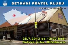 SETK�N� �LEN� A P��TEL KLUBU - 28.7.2013 - kliknut�m na fotku zobraz�te �l�nek