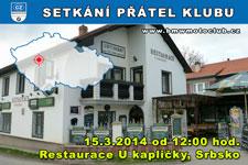 SETKÁNÍ ČLENŮ A PŘÁTEL KLUBU - 15.3.2014 - kliknutím na fotku zobrazíte článek